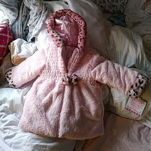NWT Play Town Pink Faux Fur Toddler Coat